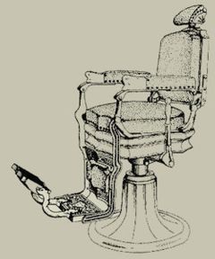Drawing of Barber's Chair